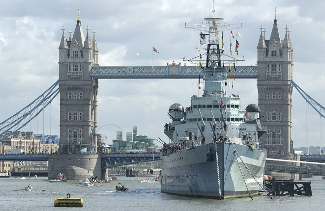 HMS Belfast Fighting Corrosion