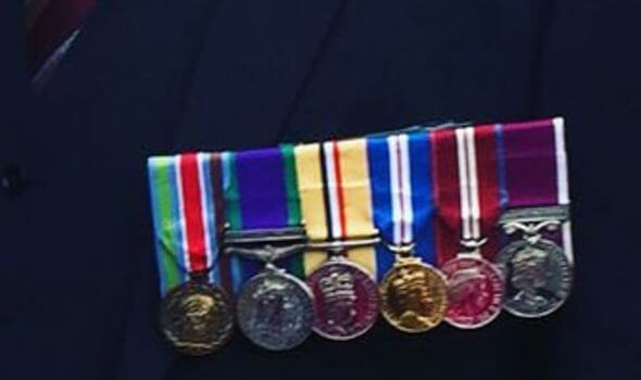 Medals stolen from British Army Hero