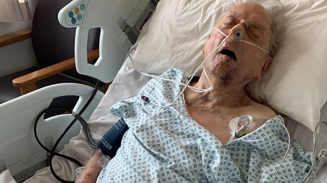 WW2 Veteran left for dead by burglars.
